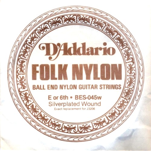 D´Addario Folk Nylon BES-045w (J3206) Folkgitarre - Ball End